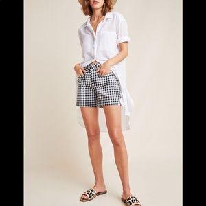 Anthropologie Picnic Gingham Shorts Size 26